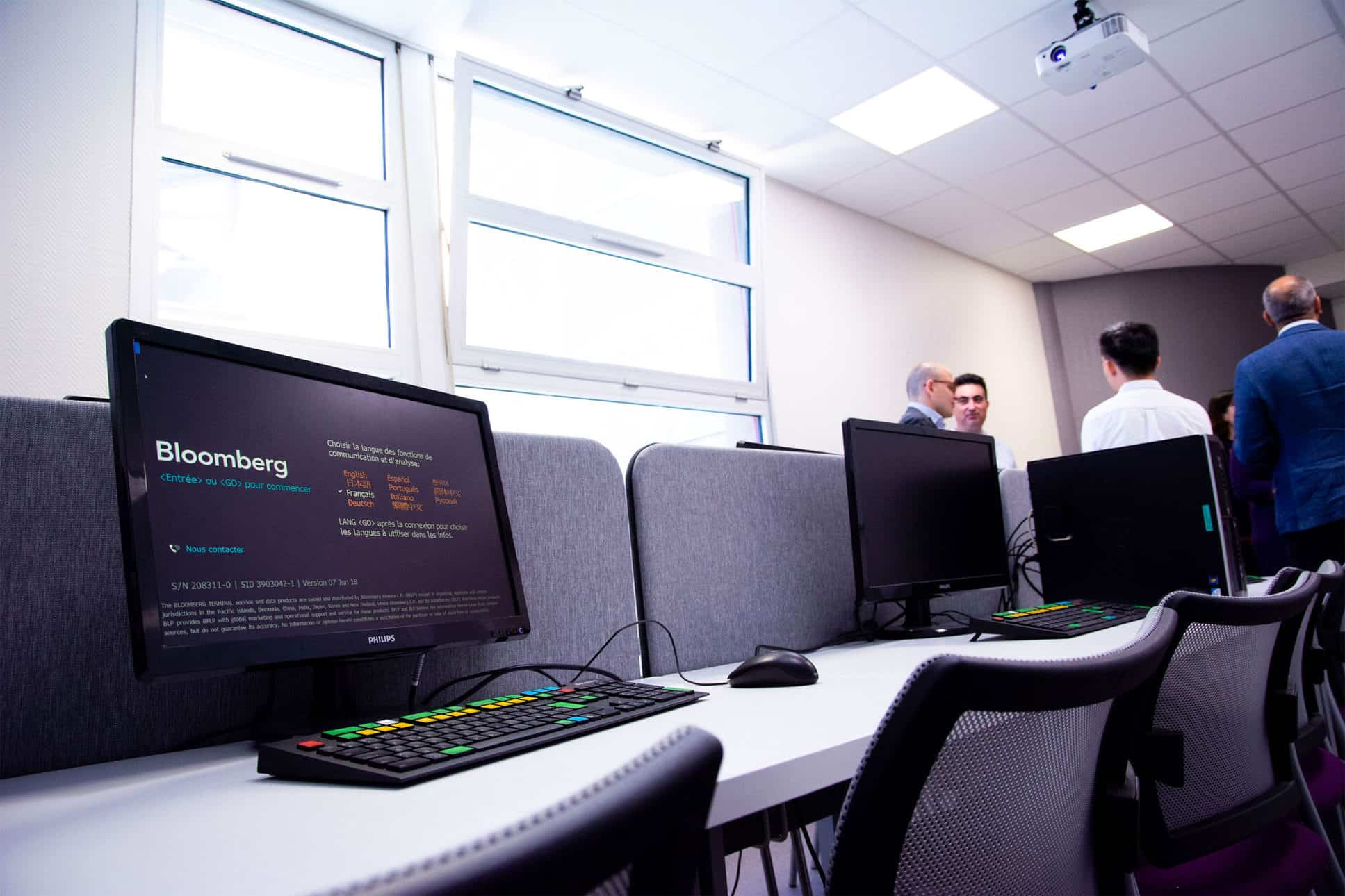 Trading room on NEOMA Rouen campus