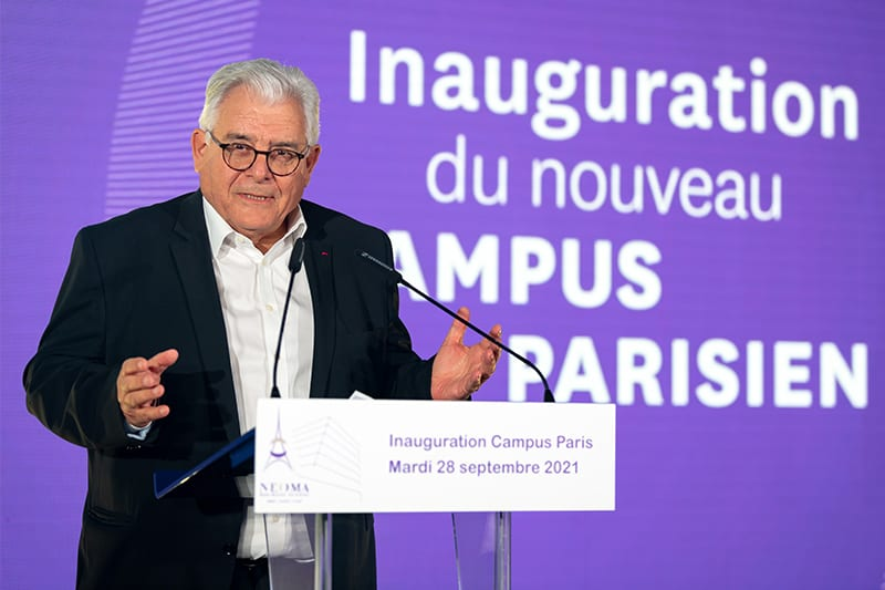 Jean-Paul Pageau, President of the Marne in Champagne chamber of commerce inaugurates NEOMA new campus in Paris