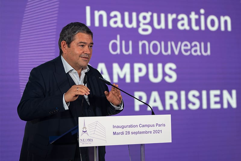 Jérôme Coumet, Mayor of the XIIIth arrondissement of Paris inaugurates NEOMA new campus
