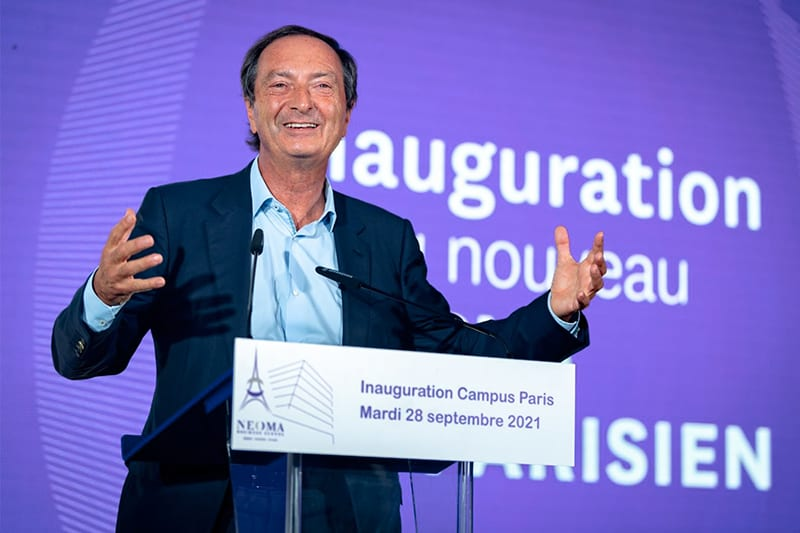 Michel-Édouard Leclerc, President of NEOMA inaugurates new campus in Paris